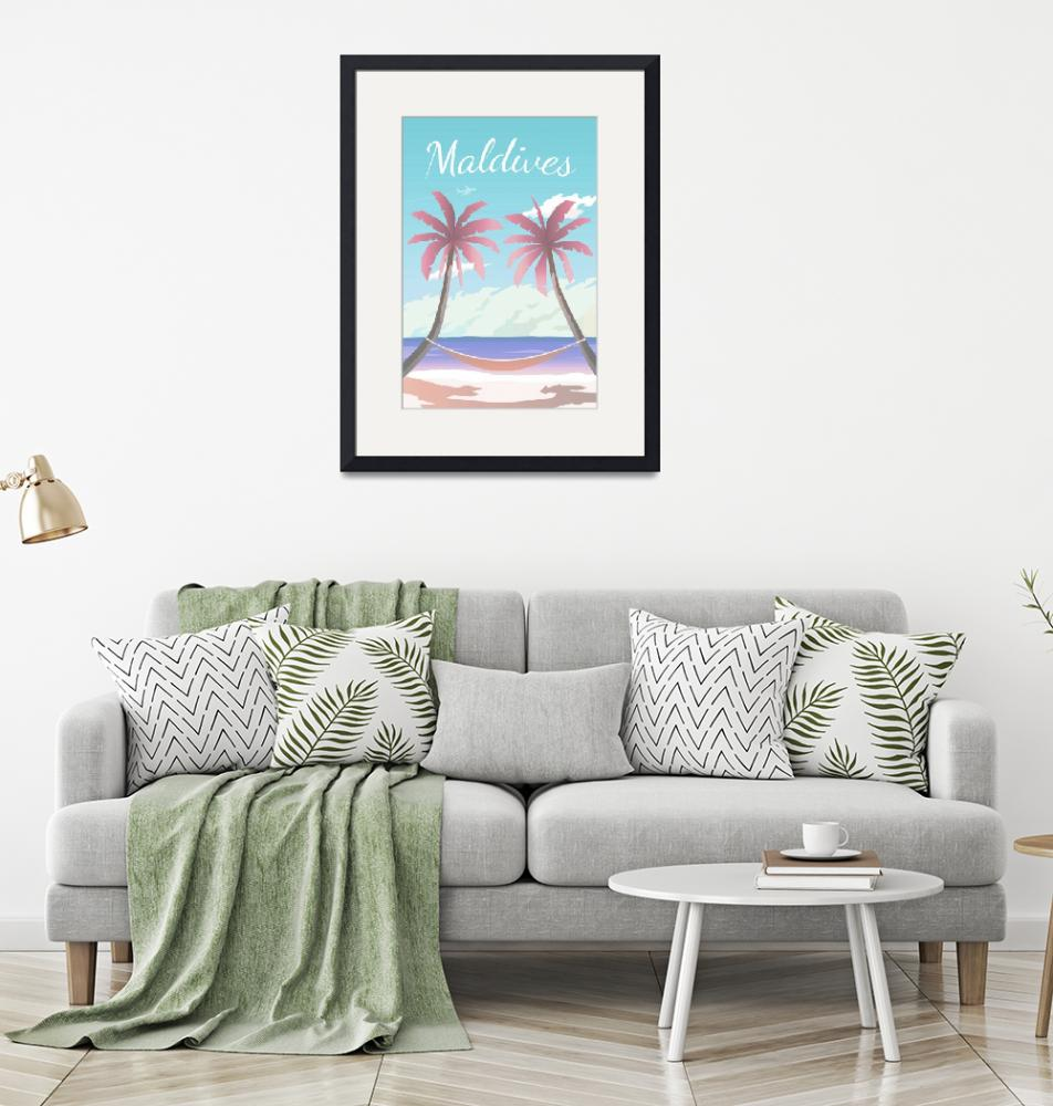 """""""Travel Poster of Maldives 130""""  by Arpina"""