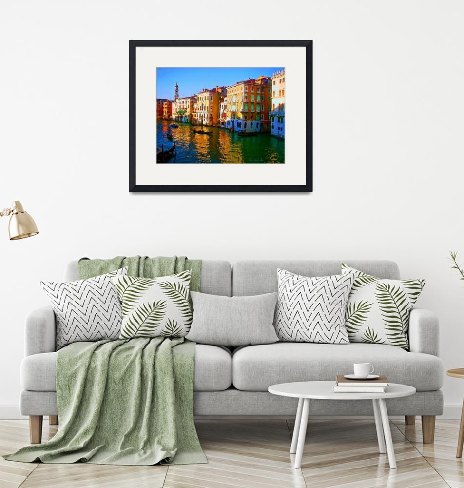 """""""Venice - Central Canal""""  (2011) by artstoreroom"""