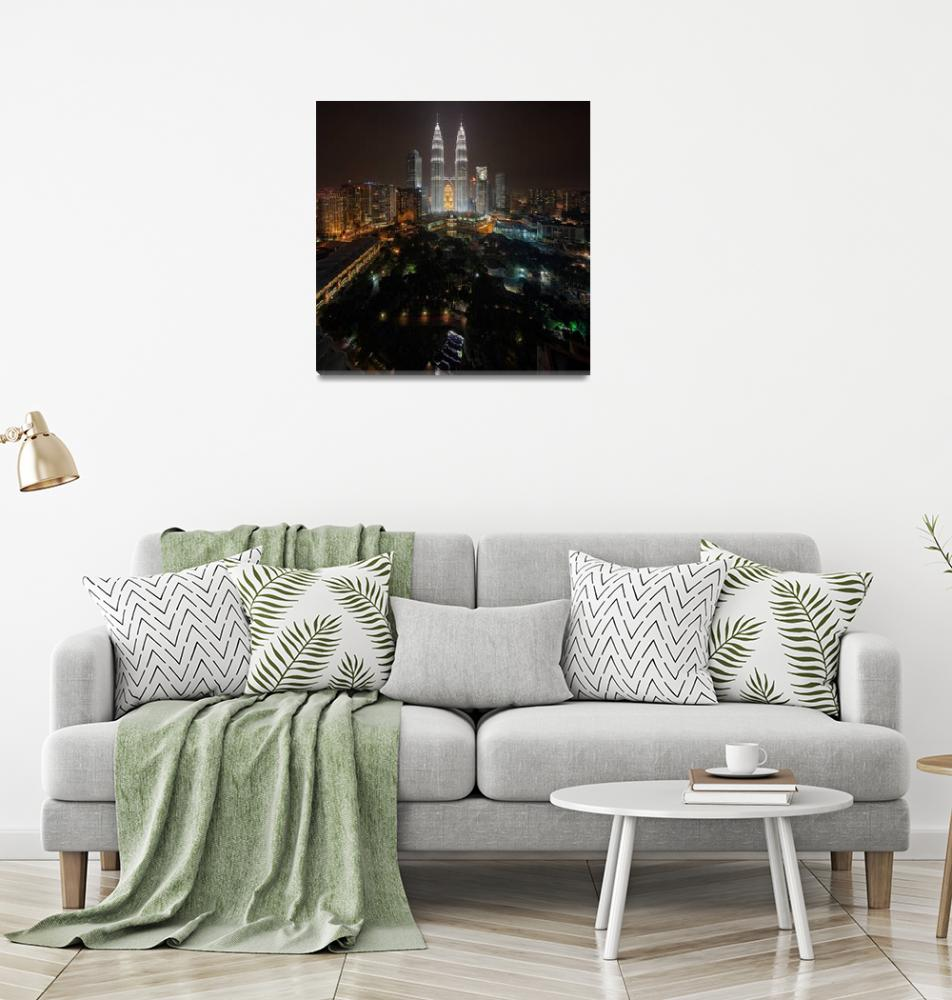 """""""The Petronas Twin Towers""""  (2013) by vedd"""