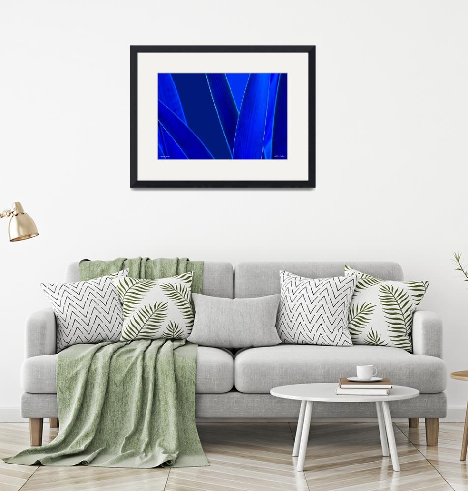 """""""Ab004-1 Blue Dream with Lines""""  (2019) by Williamcastner"""