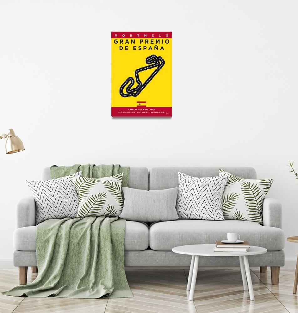 """My F1 CATALUNYA Race Track Minimal Poster""  by Chungkong"
