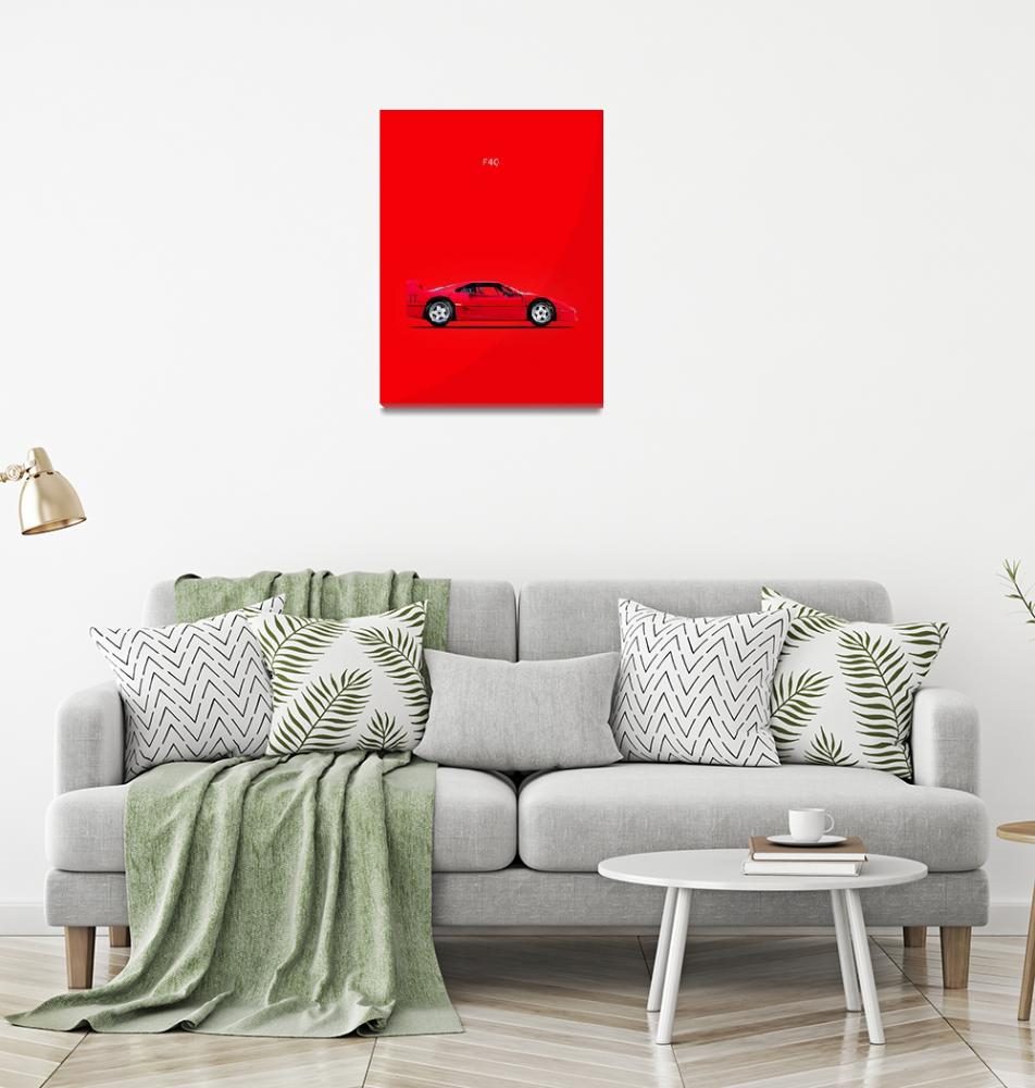 """Ferrari F40""  (1987) by mark-rogan"