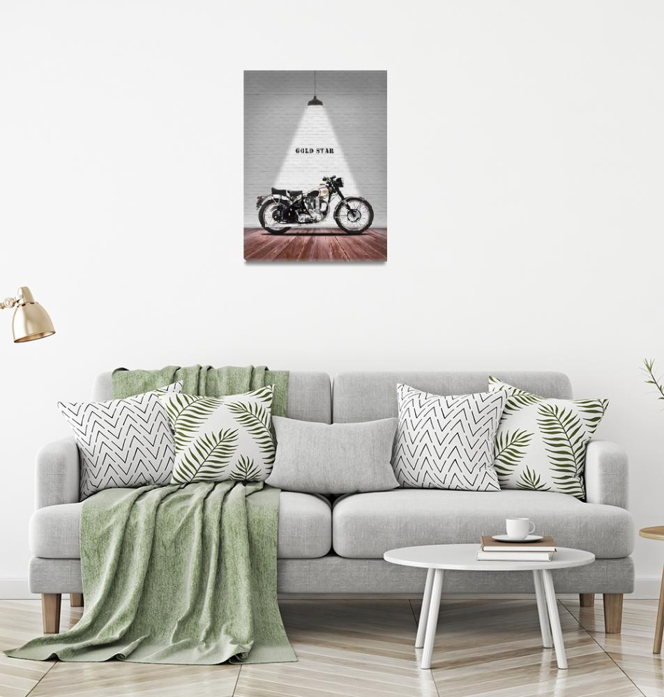 """BSA Gold Star Motorcycle""  by mark-rogan"
