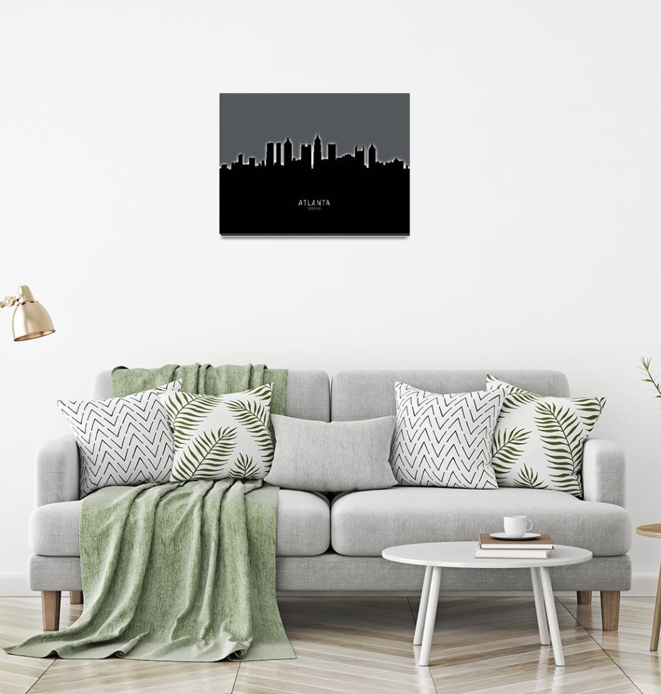 """""""Atlanta Georgia Skyline""""  (2019) by ModernArtPrints"""
