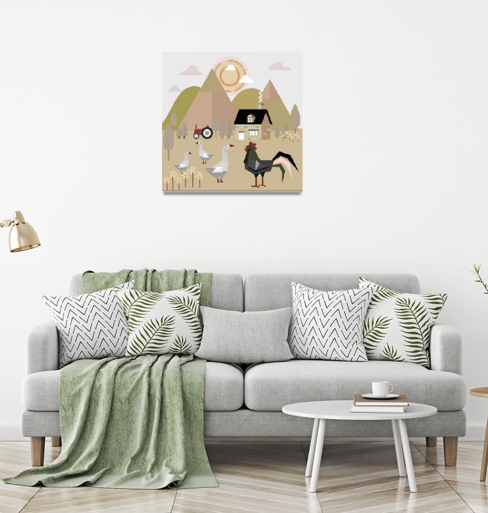 """Domestic animals in the village""  (2018) by Design4uStudio"