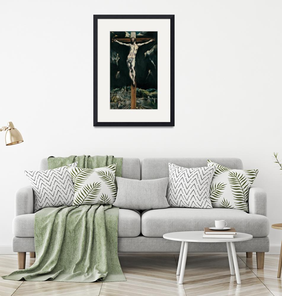 """""""El Greco~Christ crucified with Toledo in the Backg""""  by Old_master"""