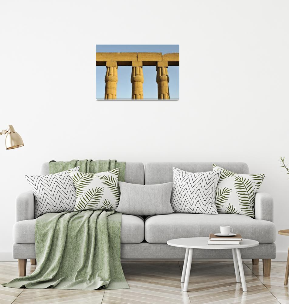 """Papyrus Columns at Luxor Temple, Egypt""  by petrsvarc"