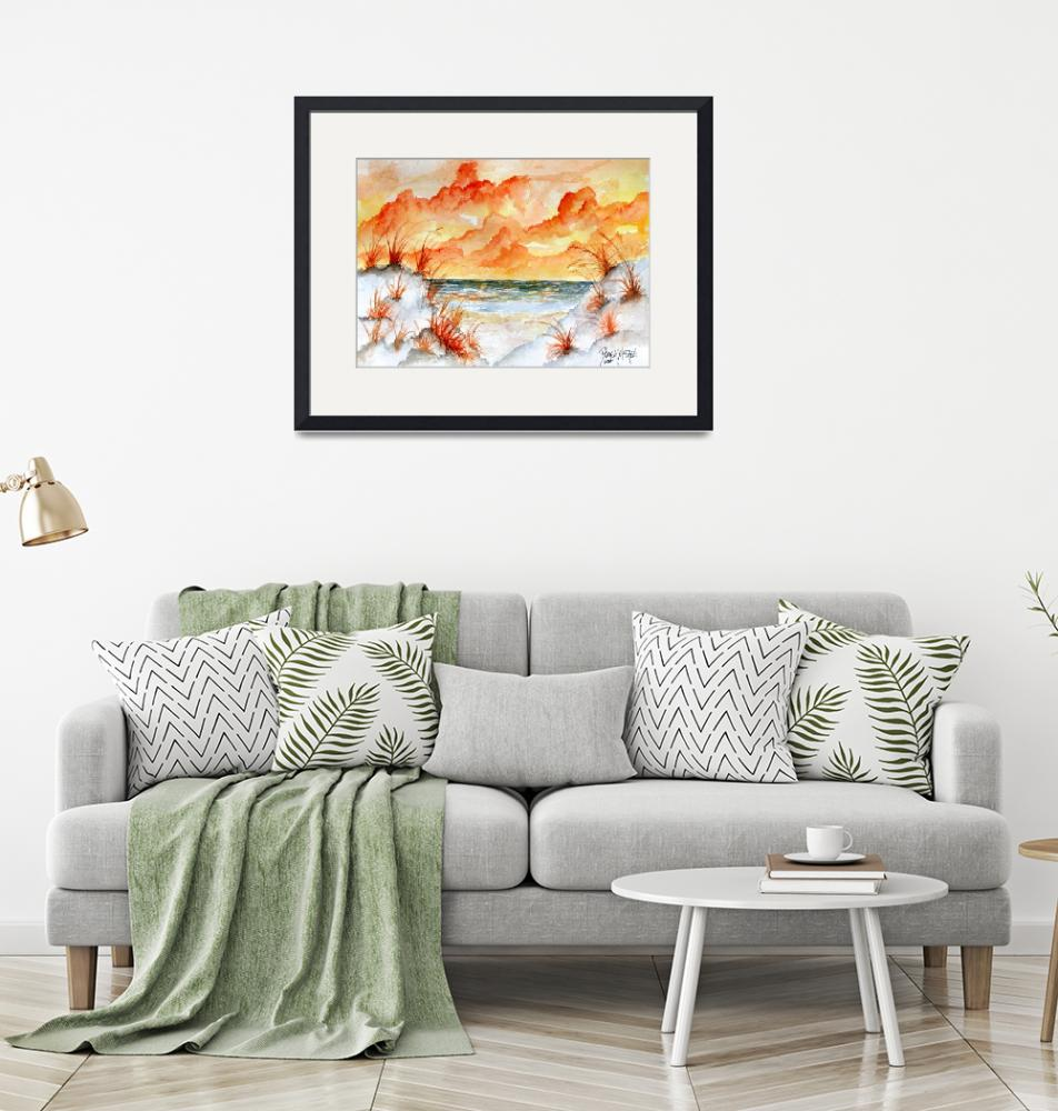 """watercolor beach painting art print""  (2010) by derekmccrea"