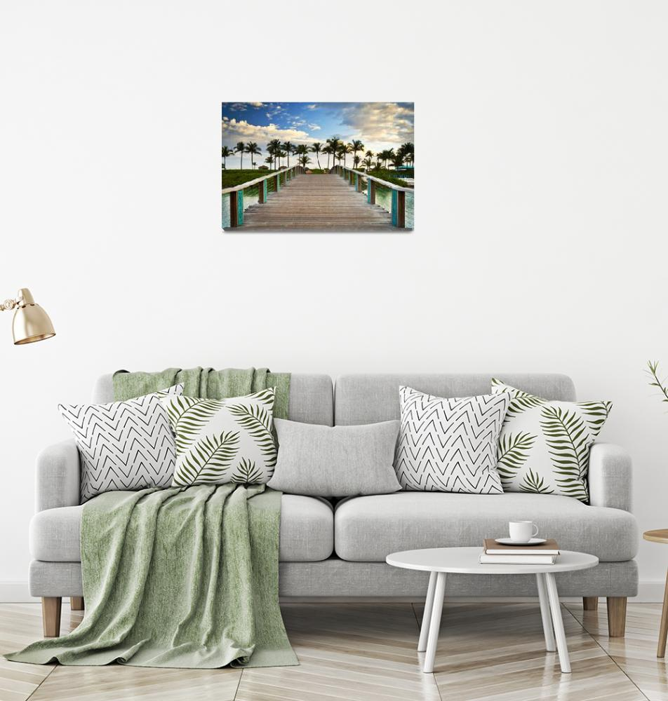"""Paradise Beach Tropical Palm Trees Islands Summer""  (2012) by DAPhoto"