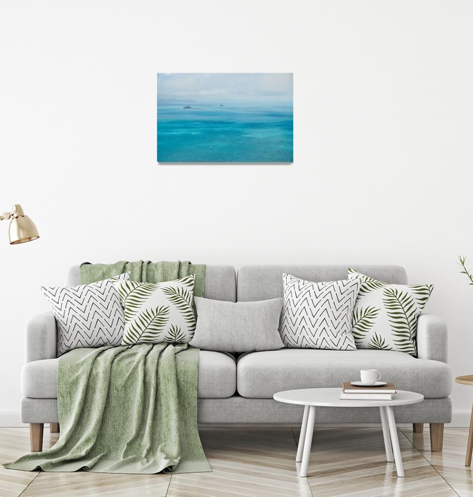 """Tropical Ocean sky sea nature blue dappled cloud""  (2017) by callumjames"