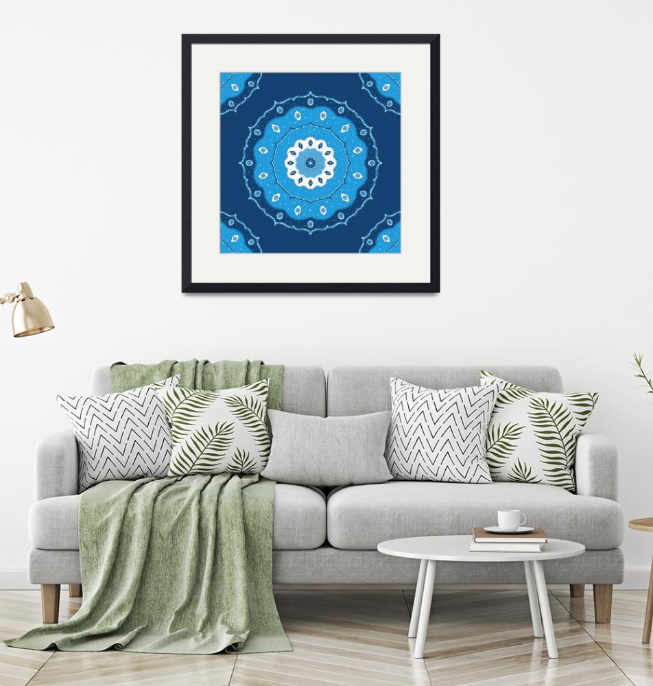 """Blue Mandala""  (2015) by CristinaBianco"
