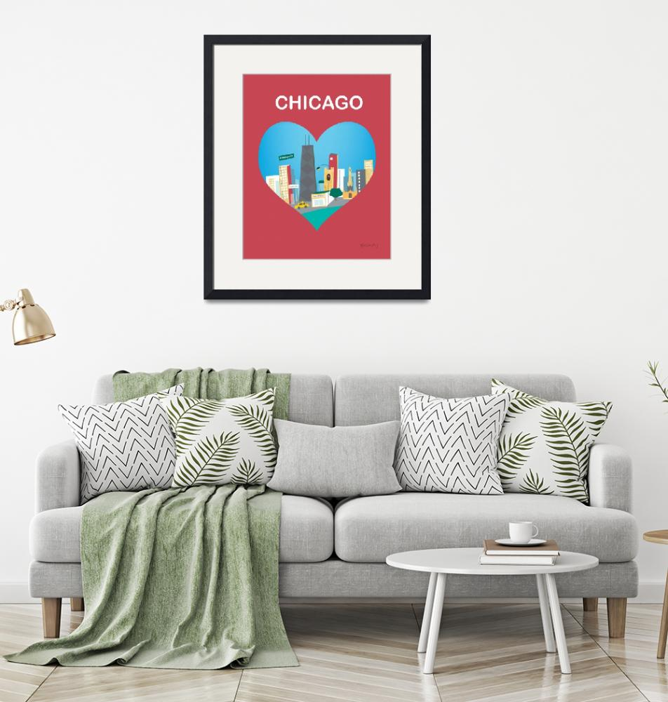 """""""Chicago, Illinois Heart""""  (2011) by loosepetals"""