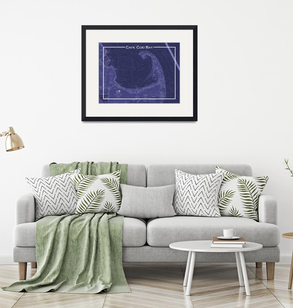 """""""Cape Cod Chart in Blue""""  (2017) by VanMoore"""
