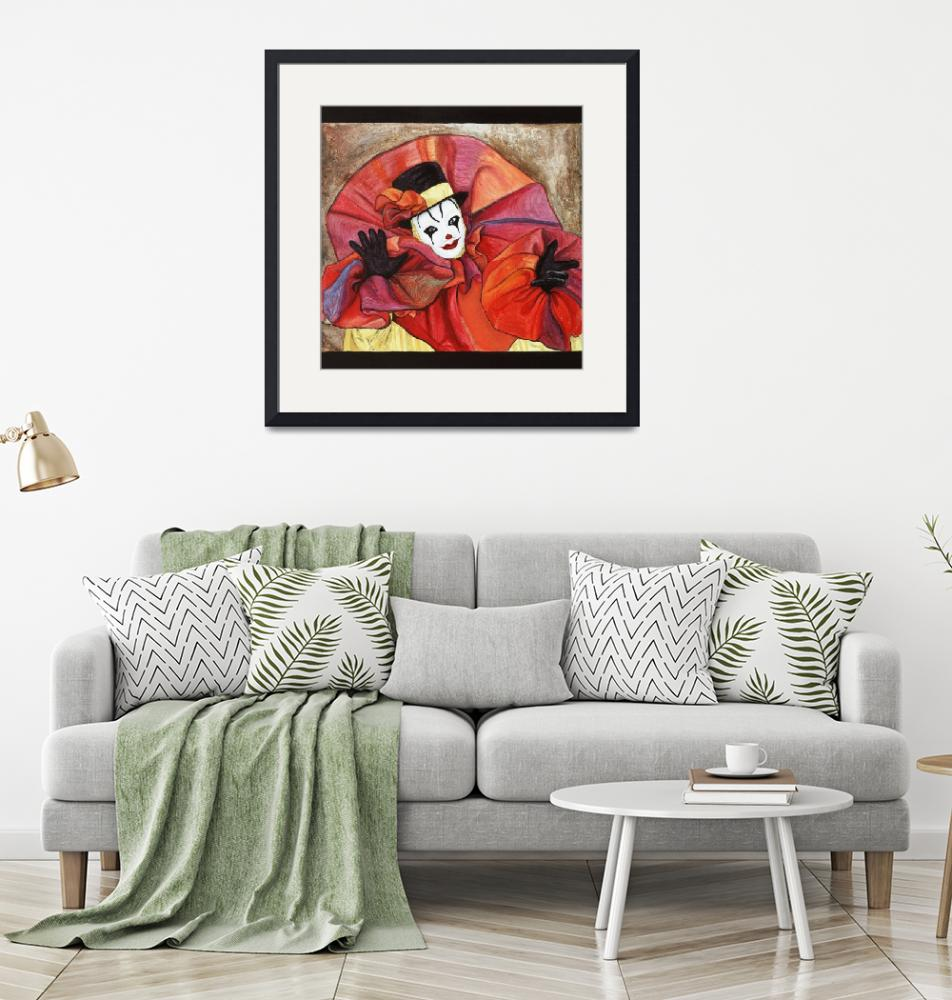 """Carnival Clown Painting"" (2008) by psovart"