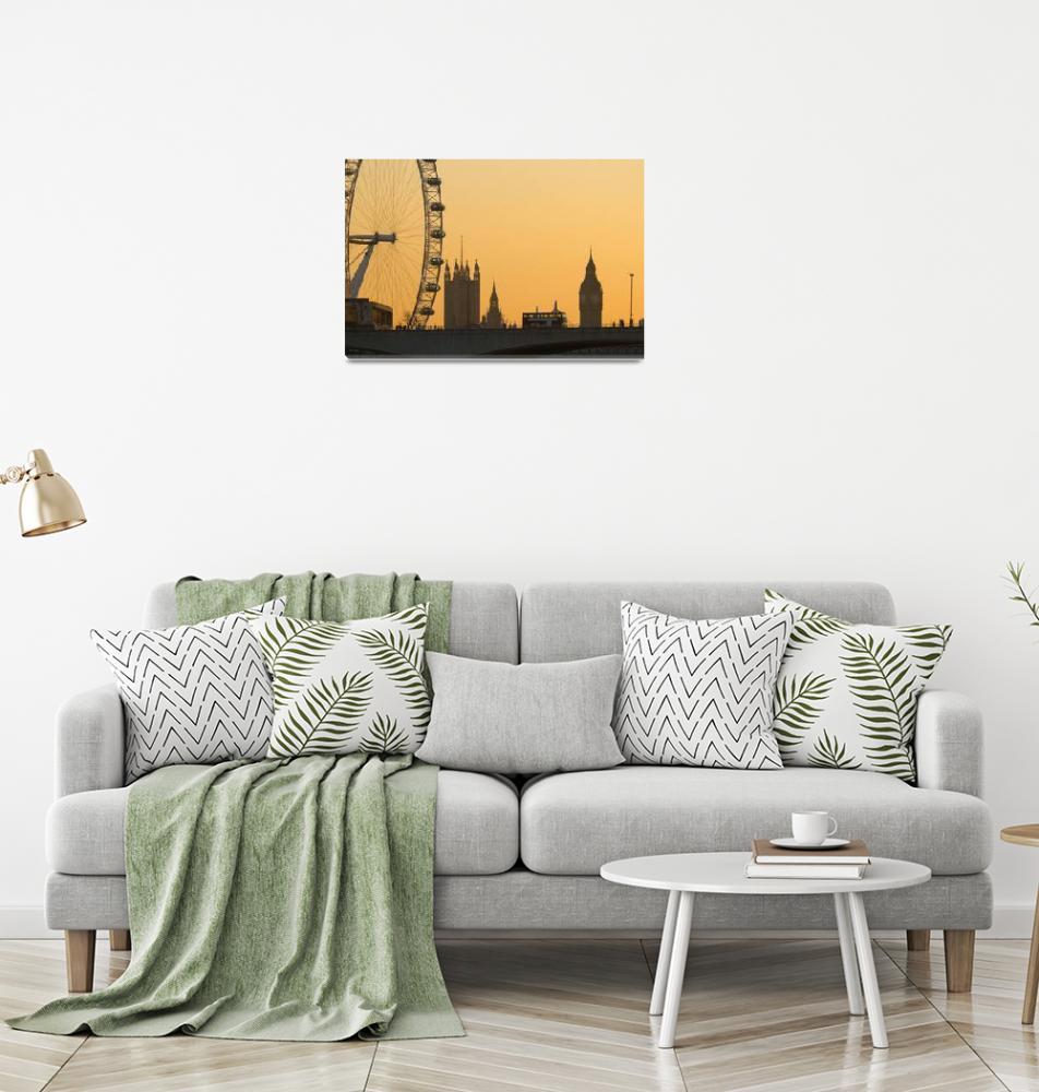 """""""London. Big Ben and London Eye (Alan Copson (C) 20""""  by AlanCopson"""