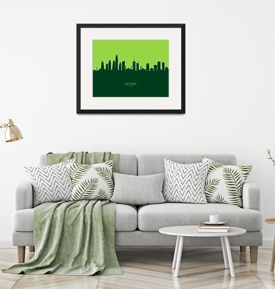 """Nairobi Kenya Skyline""  (2020) by ModernArtPrints"