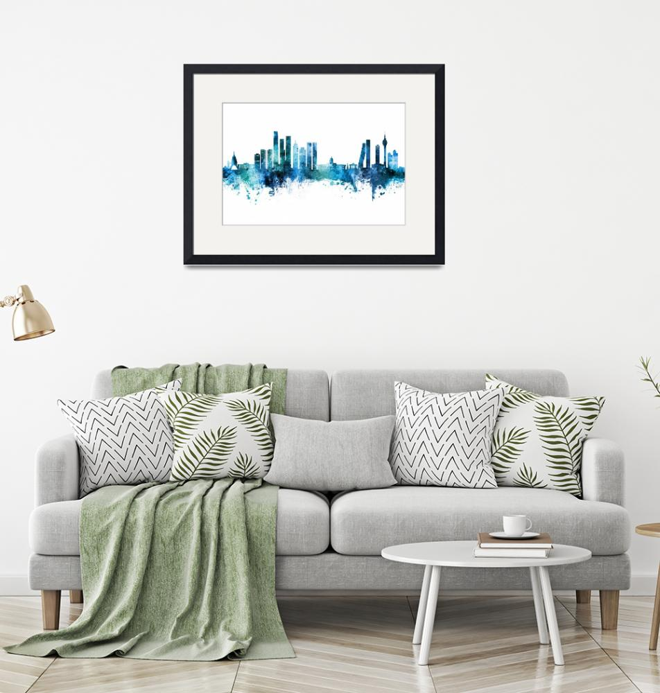 """Colombo Sri Lanka Skyline"" (2020) by ModernArtPrints"