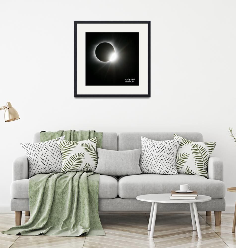 """""""Totality 2017 Diamond Ring Effect""""  (2017) by Lorraine_Sommer"""