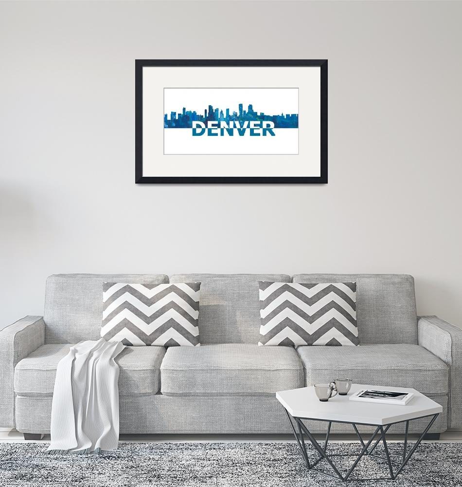 """Denver_Skyline_Scissor_Cut_Giant_Text""  by arthop77"