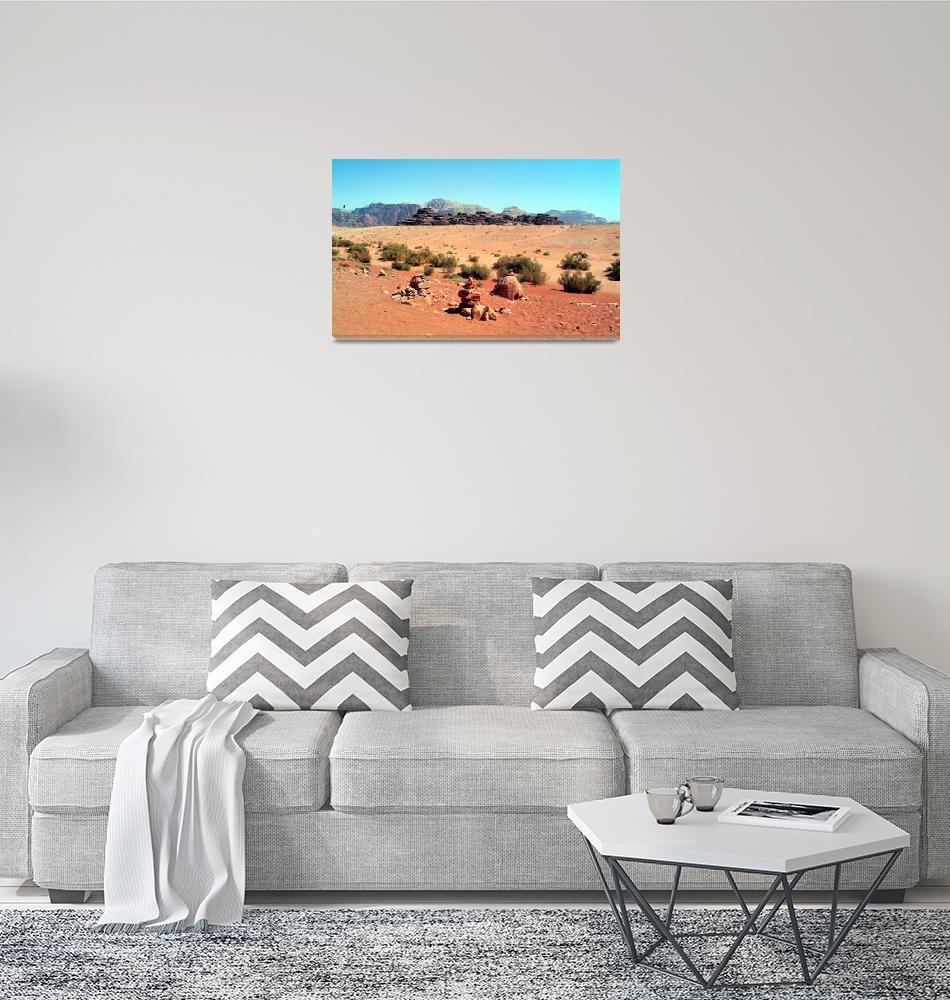 """Wadi Rum Desert Marker""  (2007) by JoaoPonces"