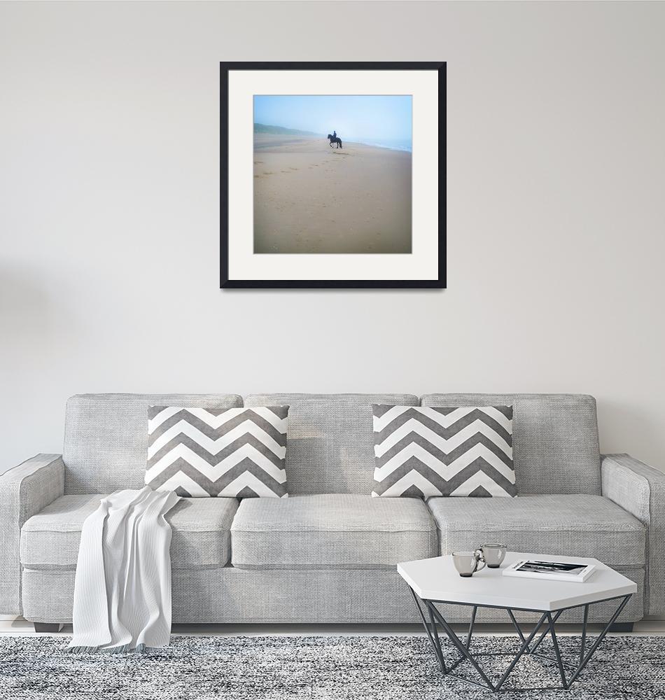"""""""Horse on the Beach""""  (2010) by AnneVis"""