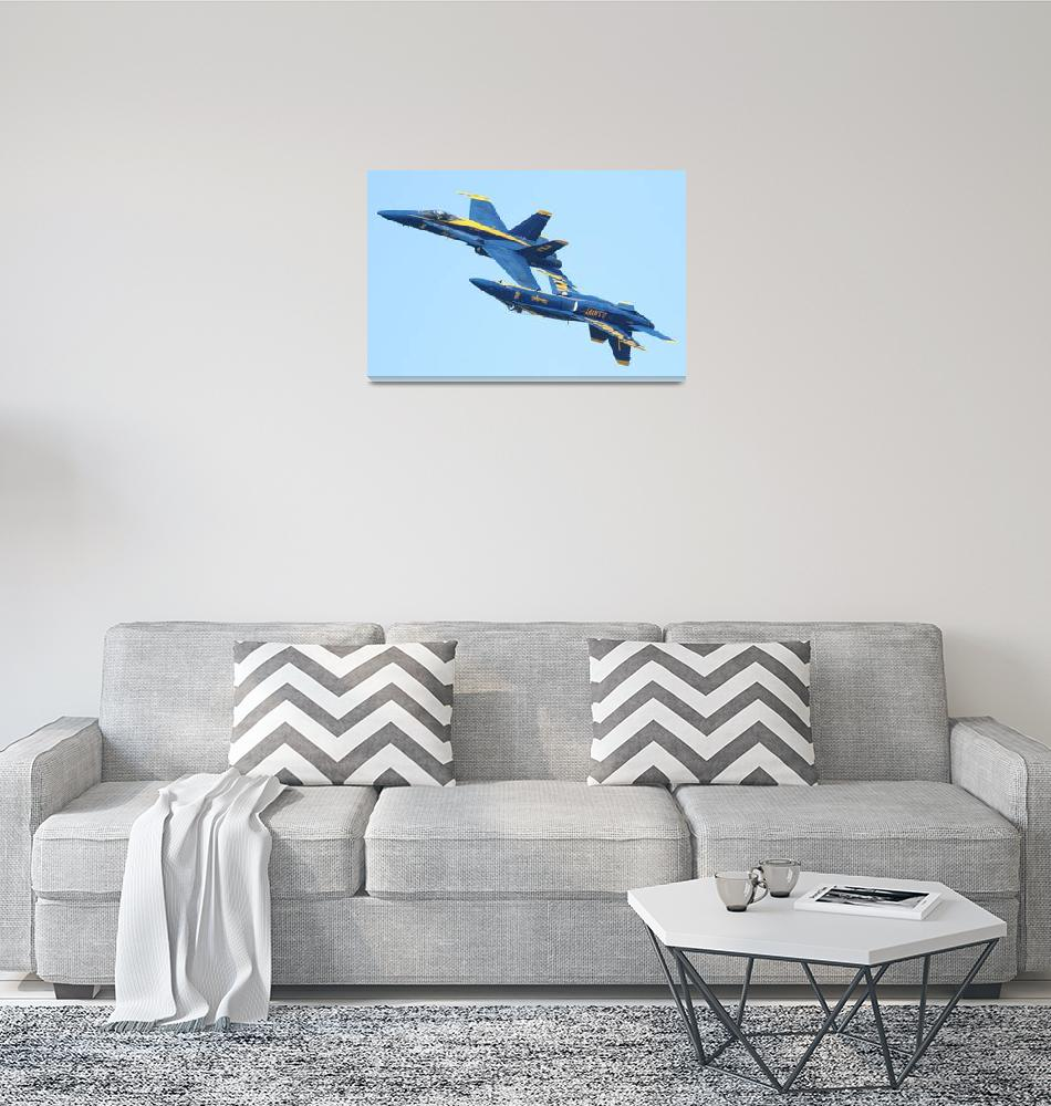 """Blue Angels Mirroring""  (2010) by wingsdomain"