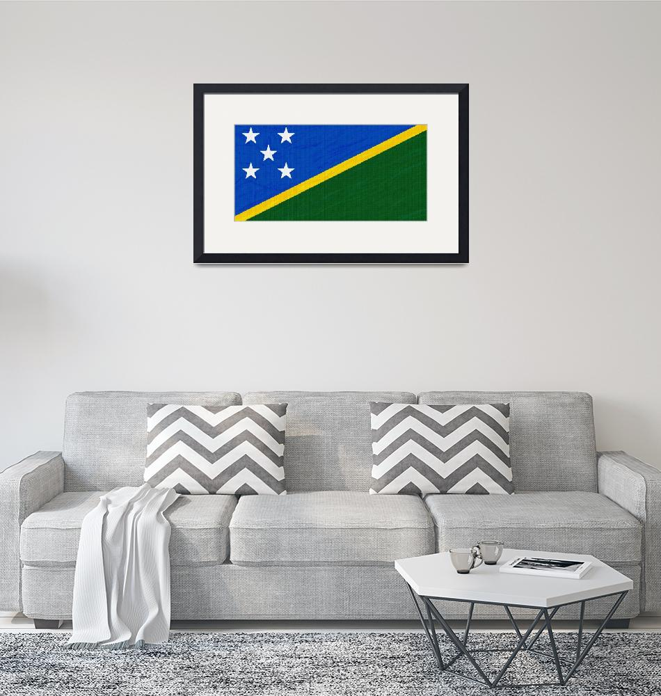 """""""Flag of Solomon Islands ,  County Flag Painting ca""""  by motionage"""