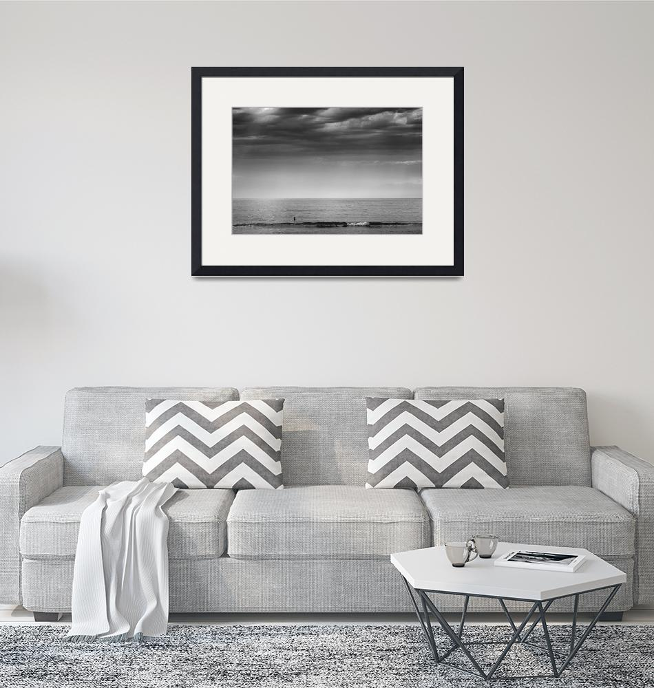 """""""Cape Cod Surfer black and white photo""""  (2015) by Black_White_Photos"""