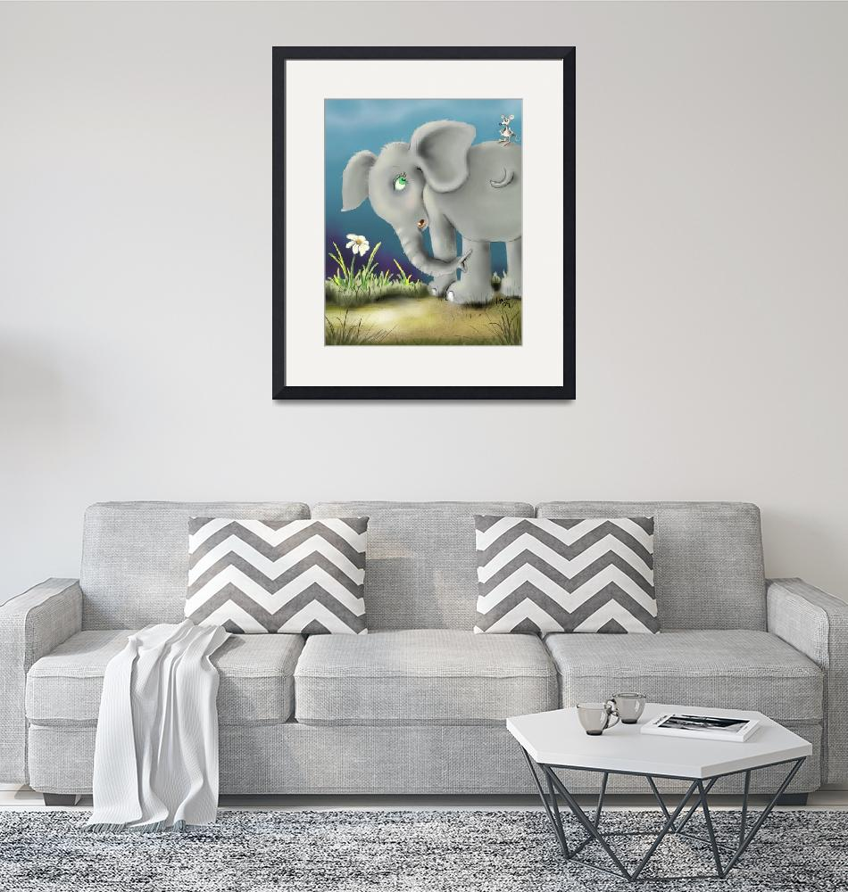 """""""elephant and mouse""""  (2009) by HankNunesArts"""