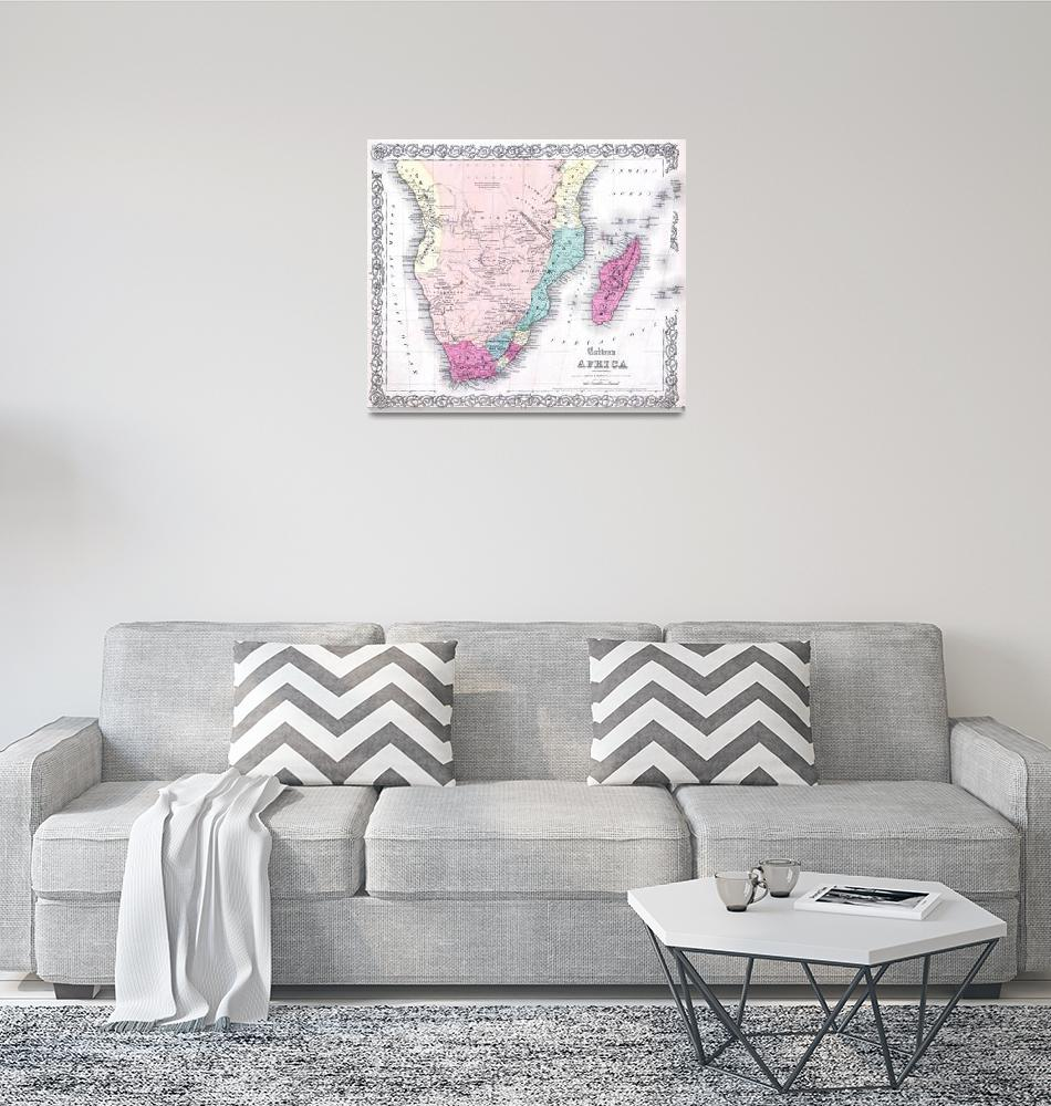 """""""Vintage Map of Southern Africa (1855)""""  by Alleycatshirts"""