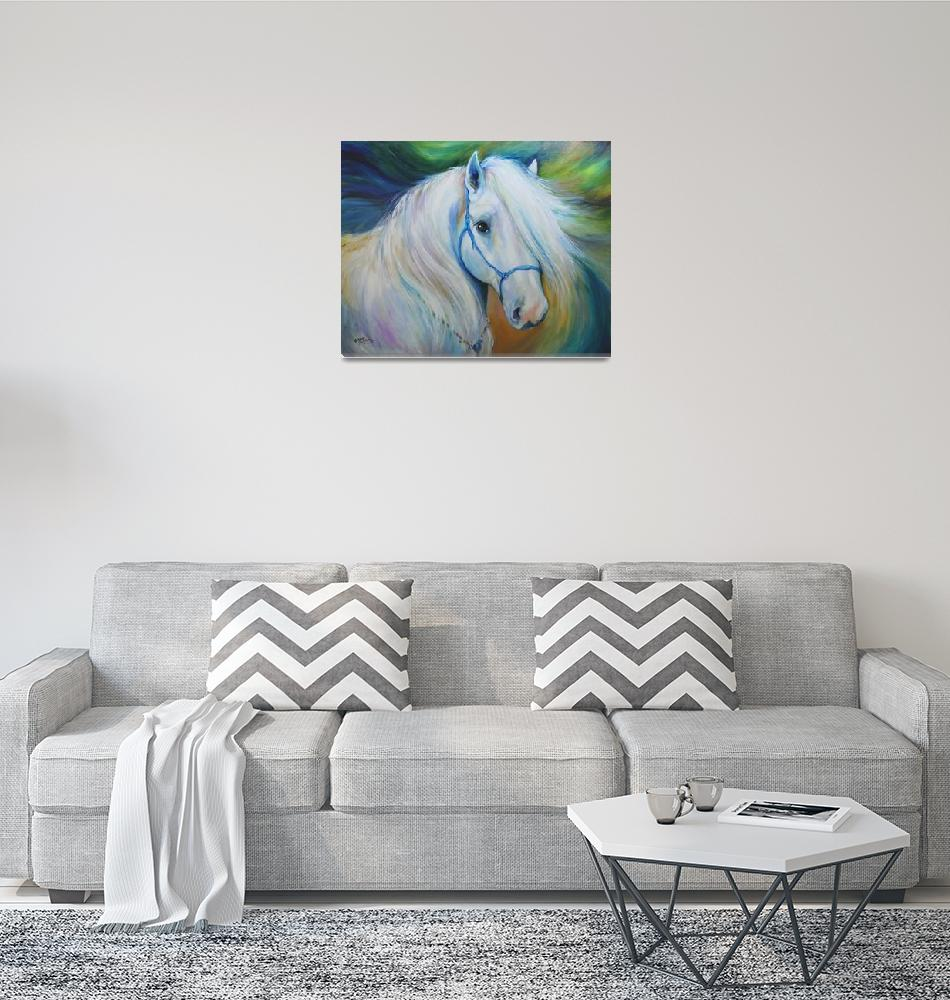 """MADDIE the ANGEL HORSE"" (2011) by MBaldwinFineArt2006"