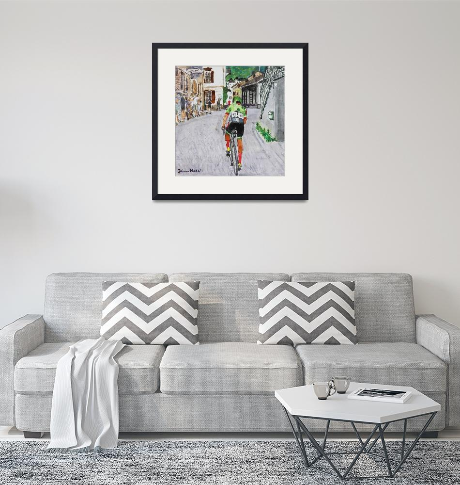 """""""Stage_Leader_Tour_de_Suisse"""" (2017) by DianaNadalFineArt"""