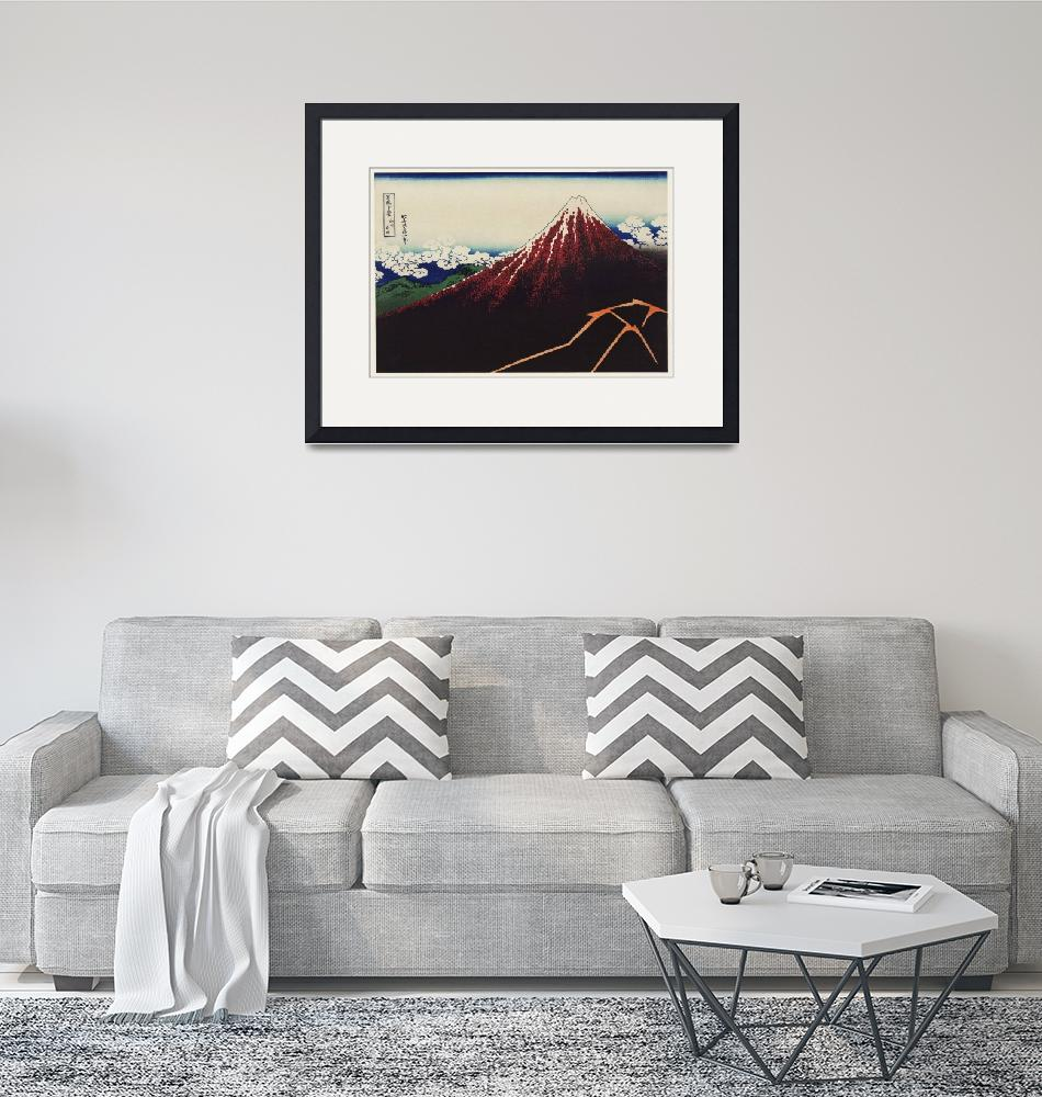 """Mount Fuji Illustration by Katsushika Hokusai""  by FineArtClassics"