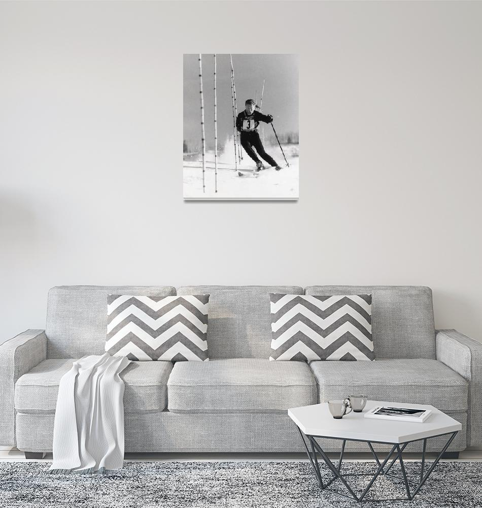 """Stein Eriksen Racing Slalom Gates""  (1963) by TonyGaubaPhoto"
