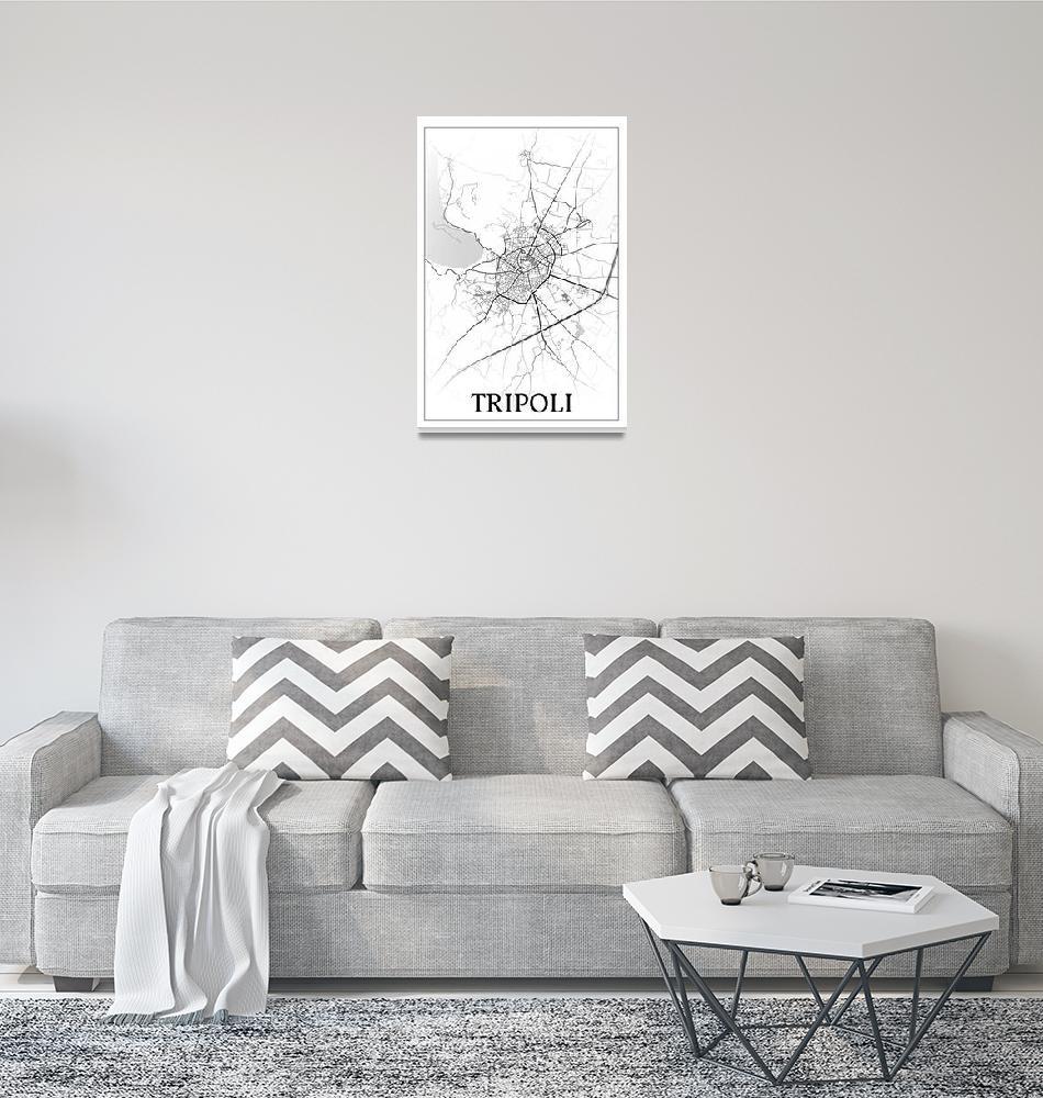 """Tripoli, Greece, city map print.""  by dandistudio"