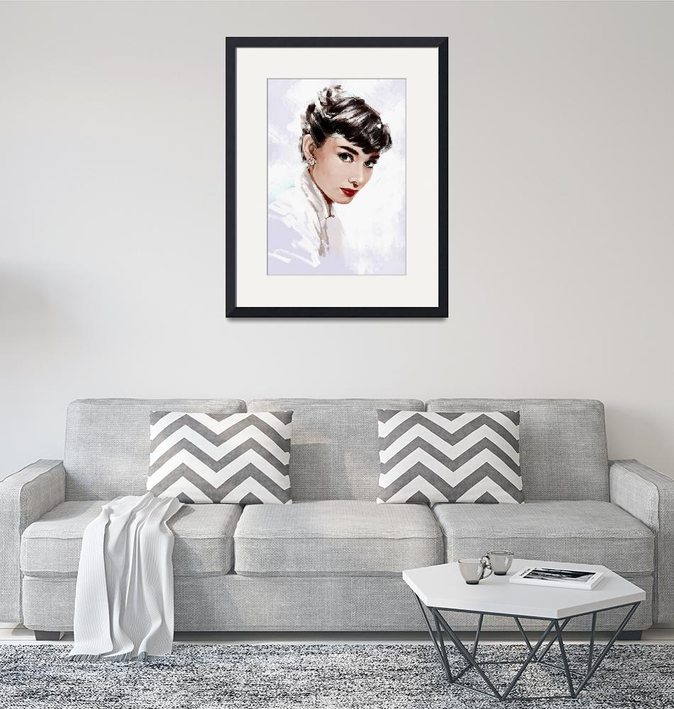 """Audrey Hepburn""  by dmtry"