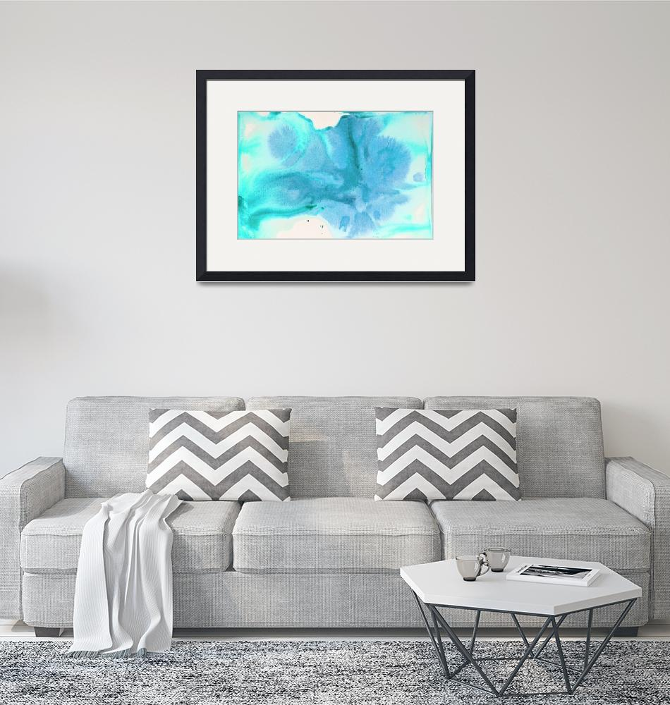 """""""ORL-10448-2 Watercolor Coastal Abstract 127""""  by Aneri"""