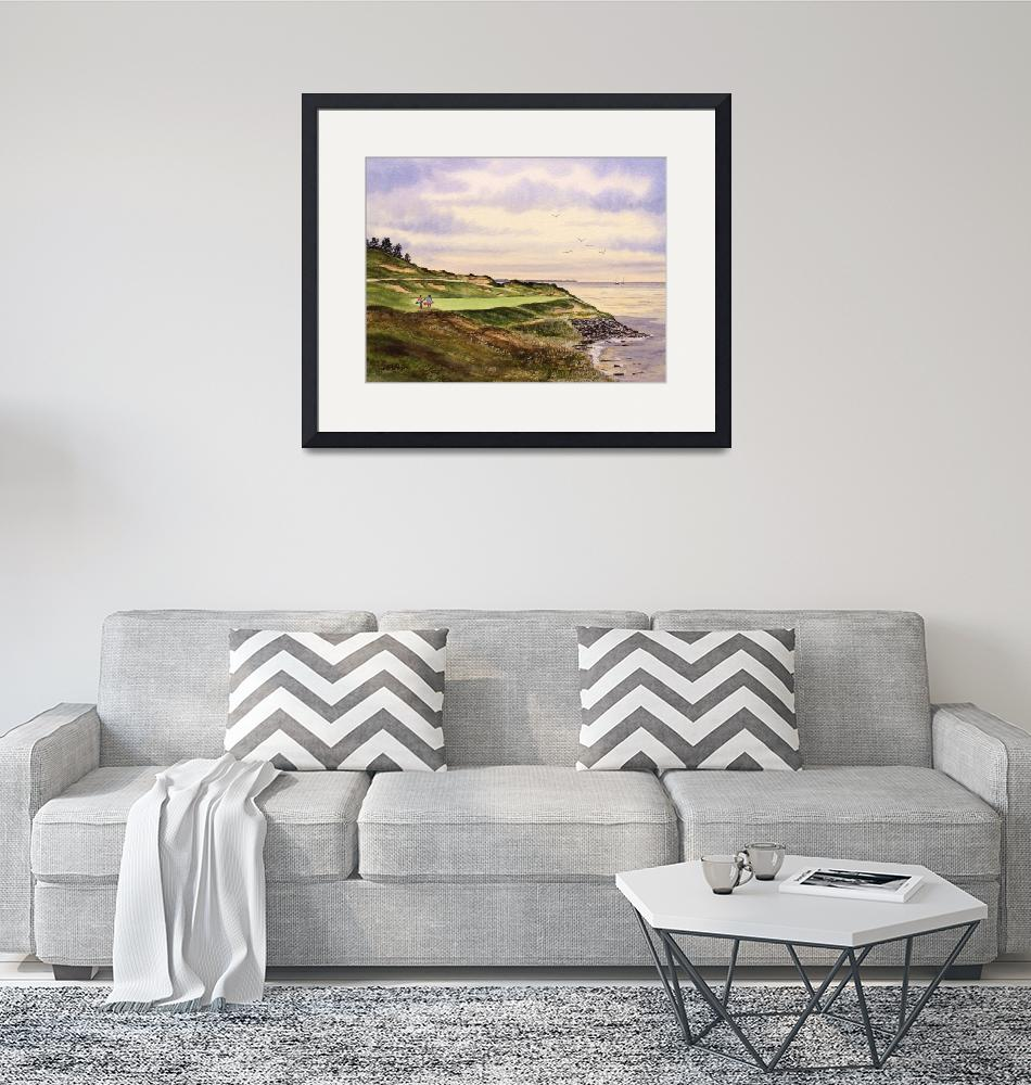 """""""Whistling Straits Golf Course Hole 7""""  (2016) by billholkham"""