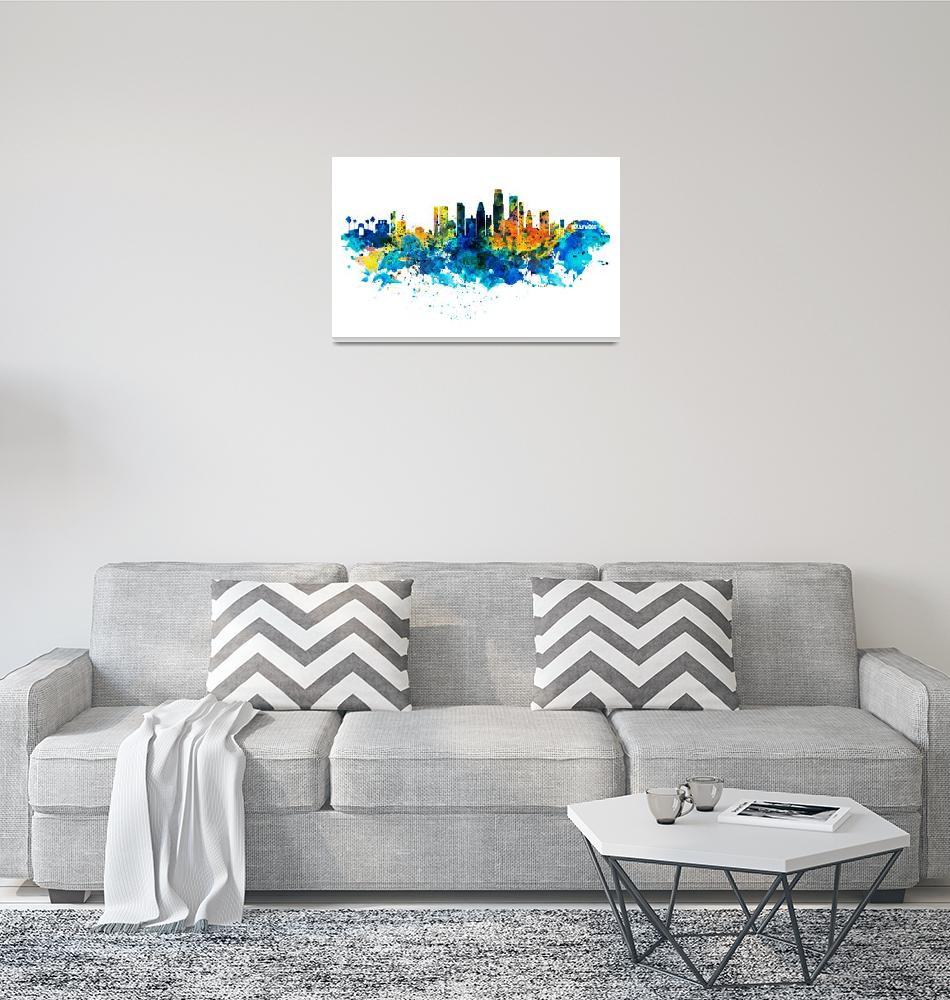"""Los Angeles Skyline""  (2015) by MarianVoicu"