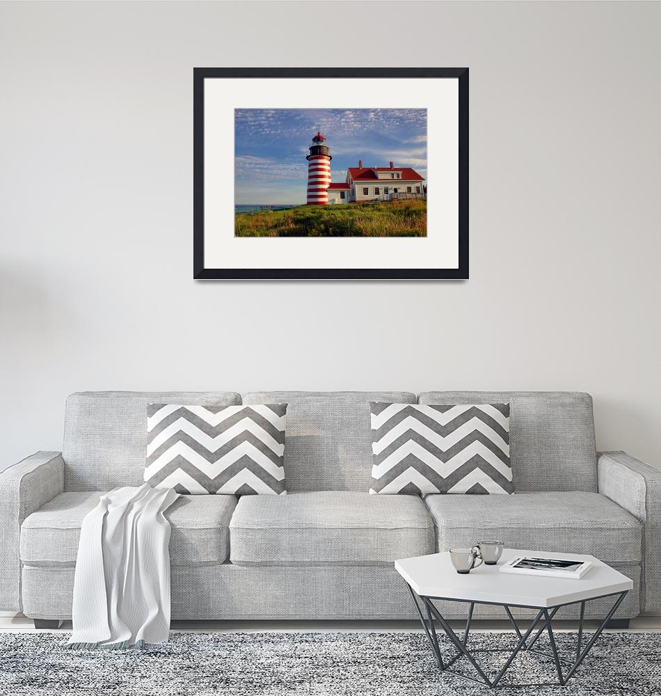 """""""West Quoddy Head Lighthouse, Lubec, Maine""""  by nelights"""