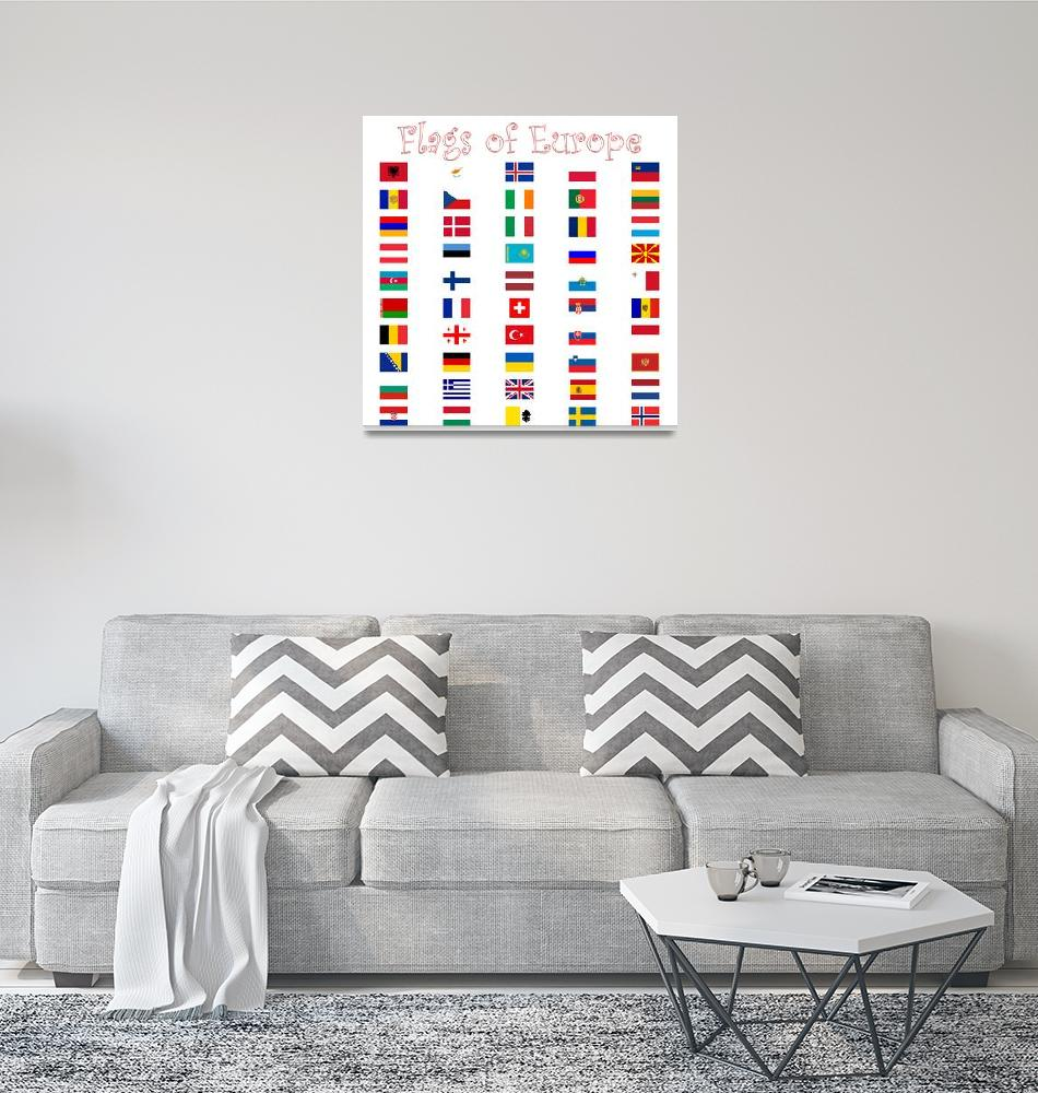 """""""flags of europe against white""""  by robertosch"""