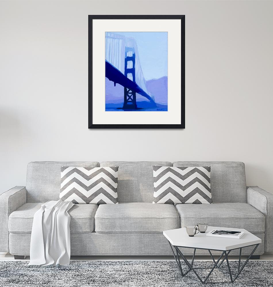 """Blue Saphire Gate Bridge""  (2013) by russwagnerart"