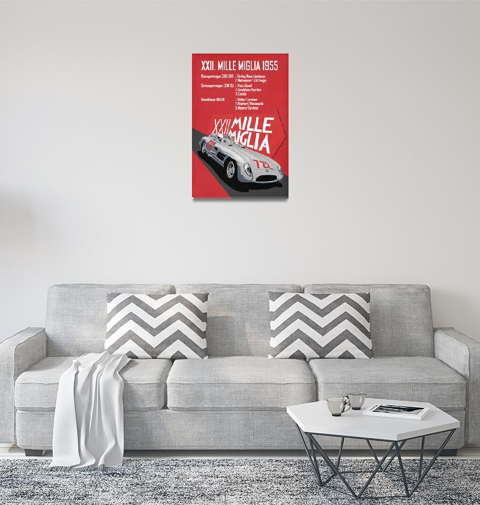 """Mille Miglia XXII 1955""  by mark-rogan"