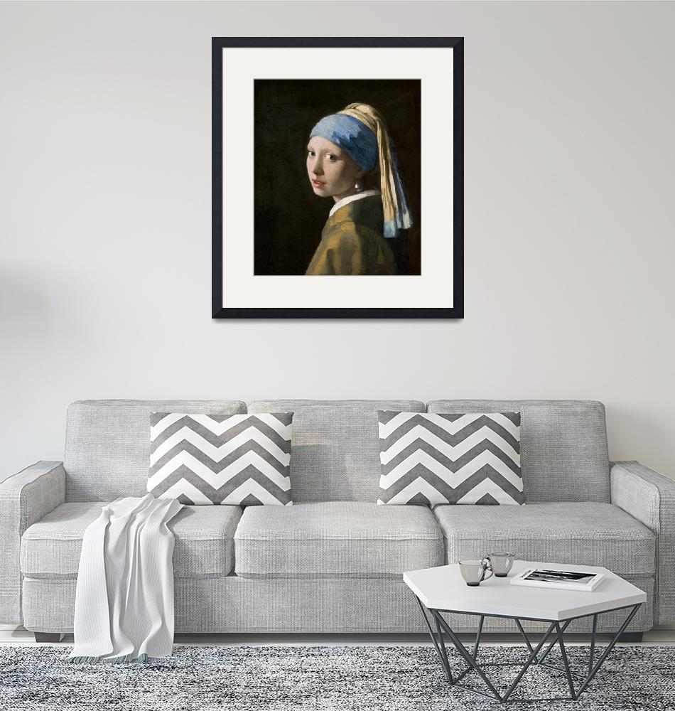 """""""Johannes Vermeer~Girl with a Pearl Earring""""  by Old_master"""