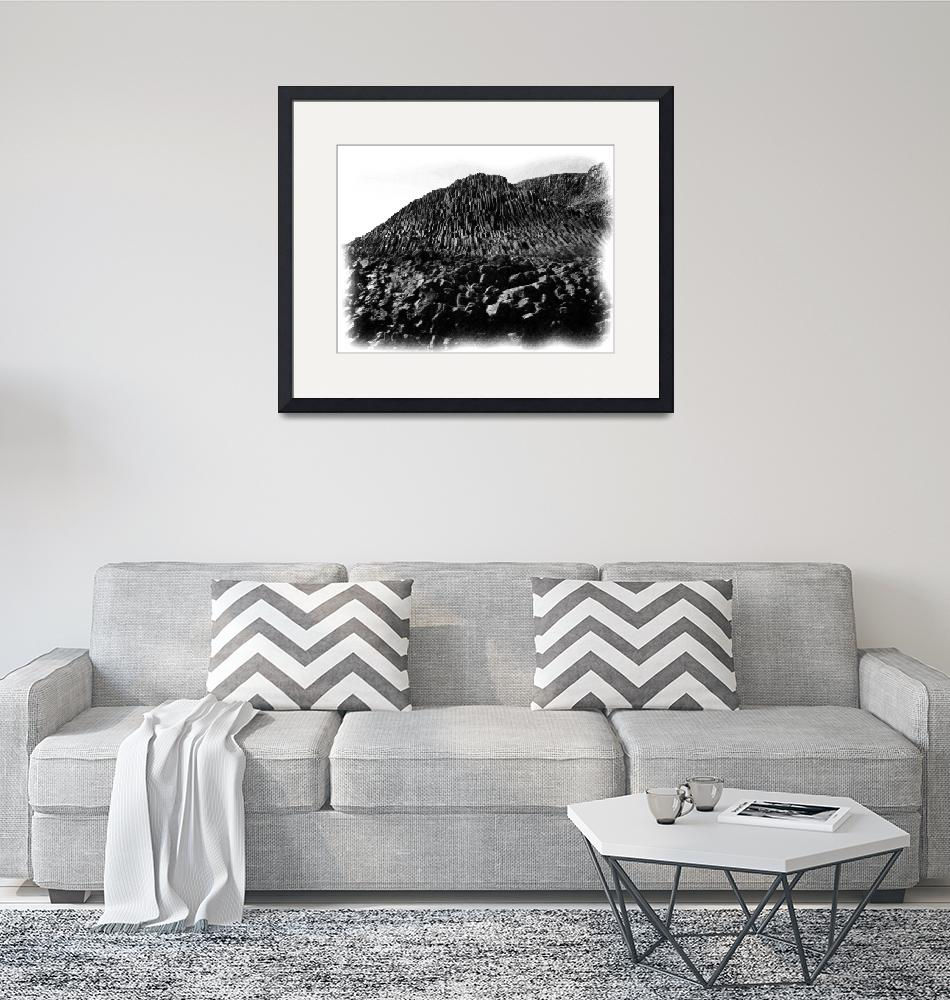 """Staffa Basalt 1 bw pencil""  (2010) by StevenHorst"