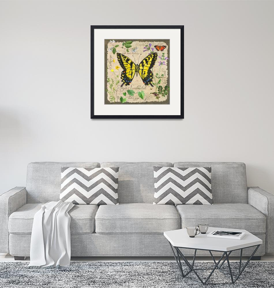 """""""Yellow Butterfly"""" (2012) by Sharon_himes"""