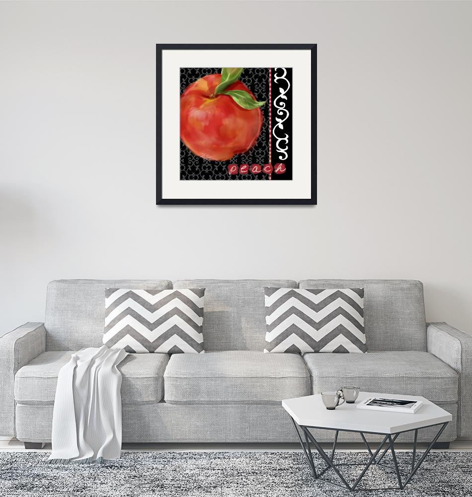 """""""Peach on Black and White""""  (2008) by shariwarren"""