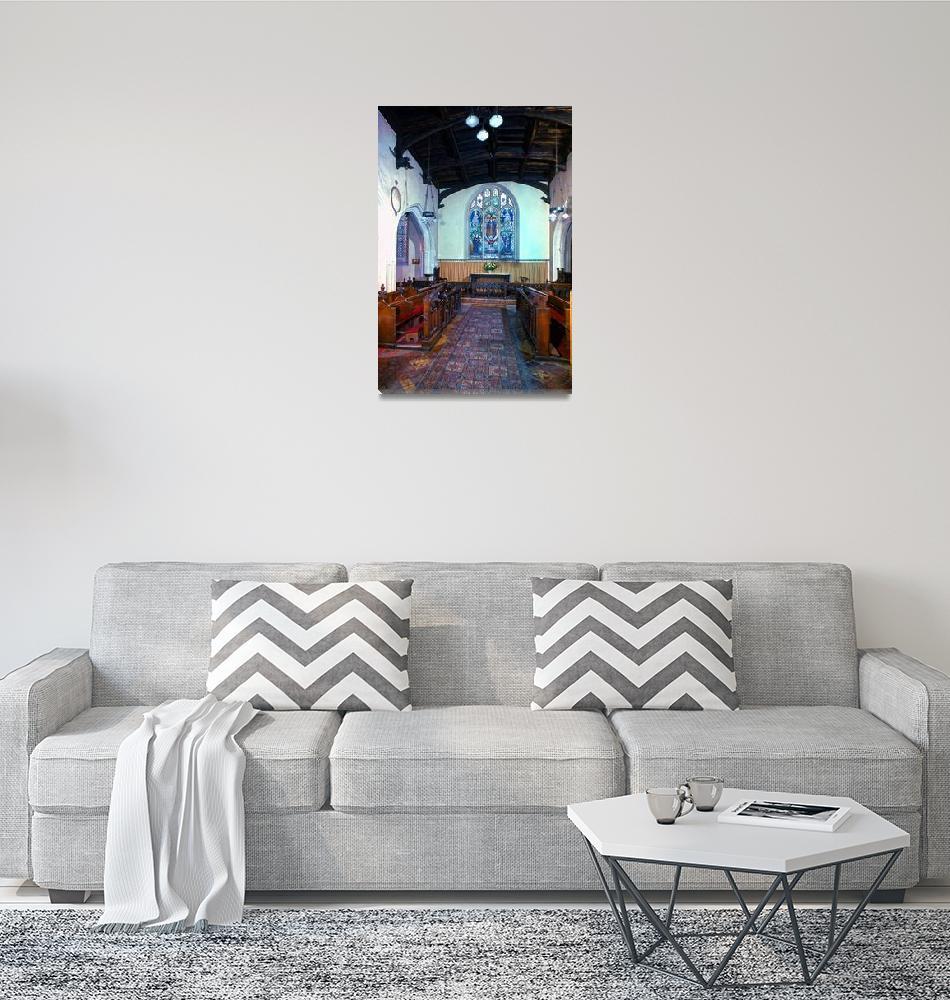 """Interior, the Round Church, Cambridge""  by PriscillaTurner"