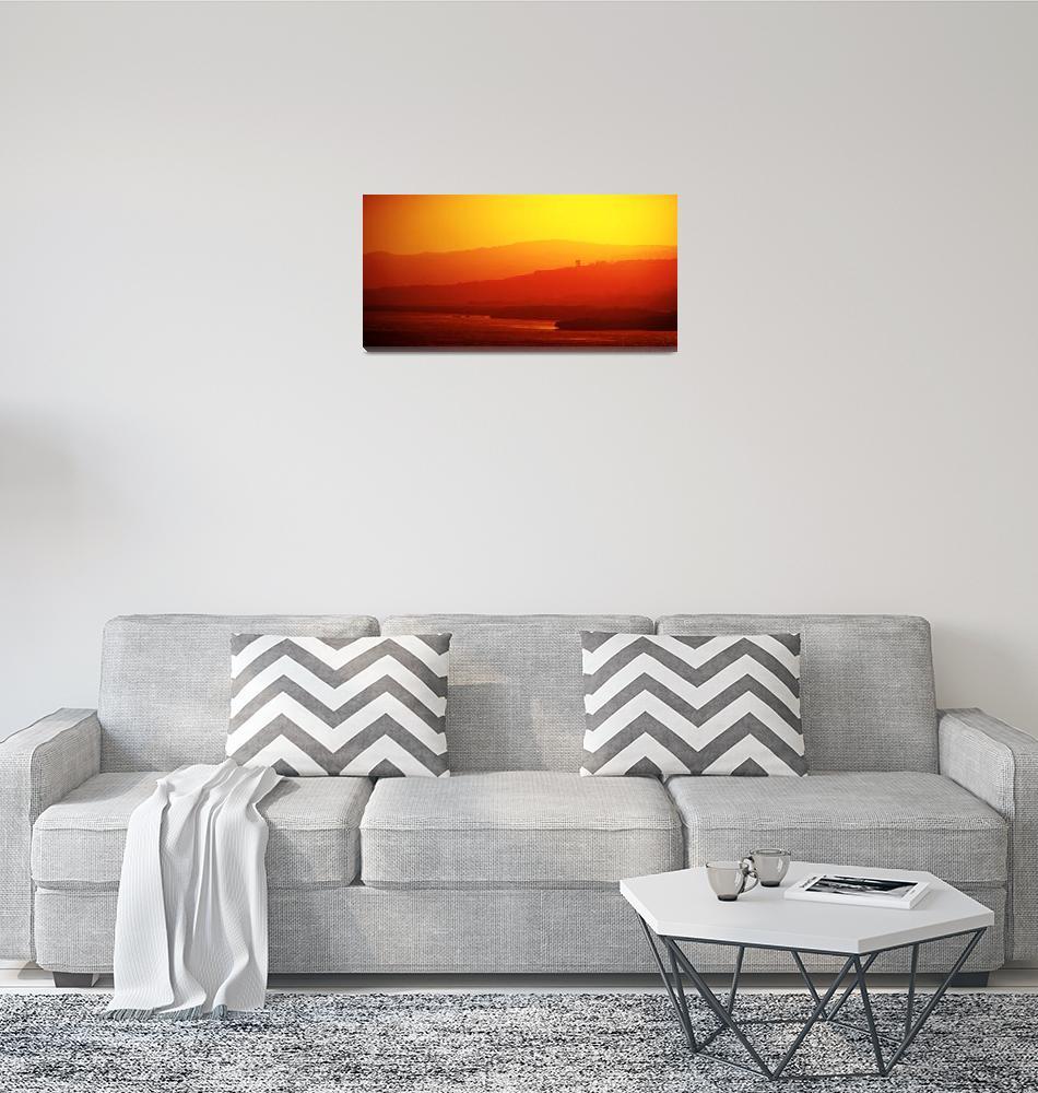 """""""Honduras Sunset panorama""""  (2011) by photoworld78"""