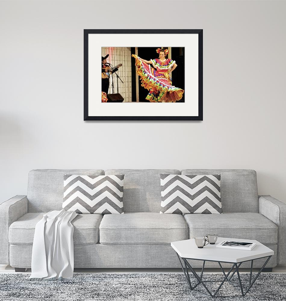 """""""Mexican Lady Performing Traditional Dance""""  (2012) by WallArtDeco"""